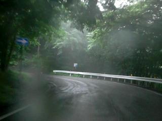 ハーレーのいろは坂雨天走行