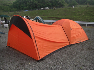 ハーレーダビッドソンのテント全景