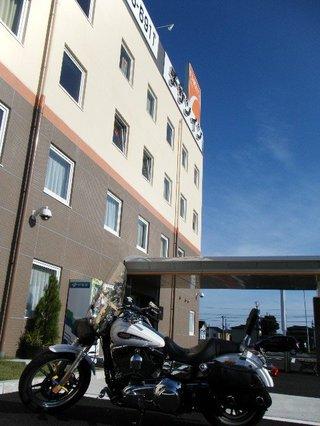 ハーレーダビッドソンと一関ホテル