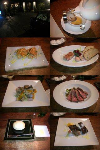 フレンチのコース料理