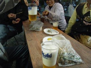 ハーレー冨山の生ビール