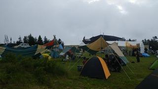 ハーレーのテント場