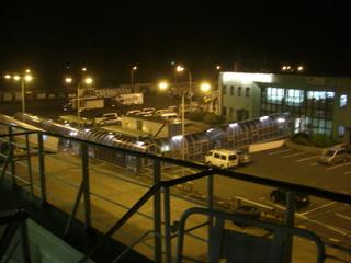 ハーレーダビッドソンを運ぶフェリーターミナル
