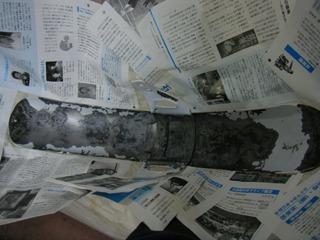 ハーレーのフェンダー塗装マスキング