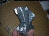 ハーレーダビッドソンのエンジン組み立て