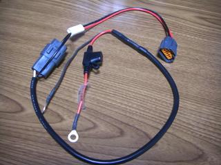 ハーレーダビッドソンのバッテリー充電ハーネス