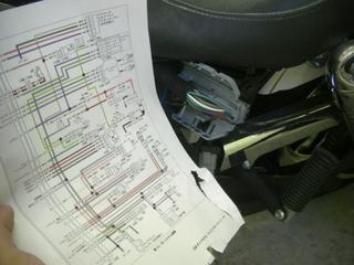 ハーレーダビッドソンの電気配線図