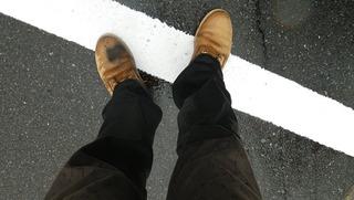 ハーレー用濡れたブーツ