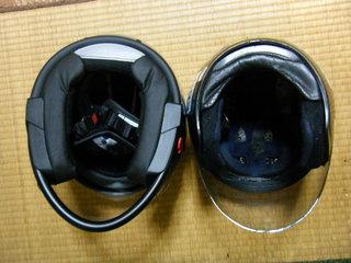 ハーレーのヘルメット シューベルト内部