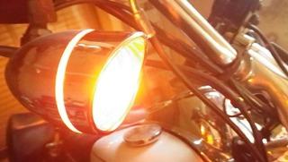 ハーレーのウインカー点灯