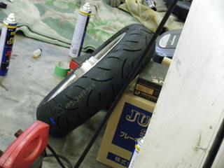ハーレーダビッドソンの新品タイヤとホイール