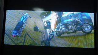 ハーレー用ドライブレコーダー ニリドラモニター画面
