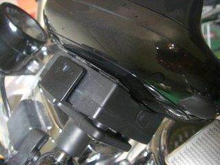 ハーレーのカーナビ接触修理5
