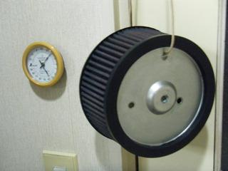 ハーレーのエアクリーナー乾燥
