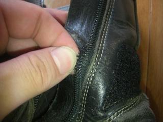 ハーレーダビッドソン用ブーツ ジッパー