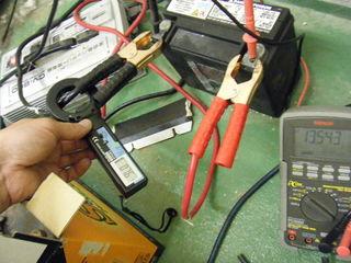 ハーレーのバッテリー充電