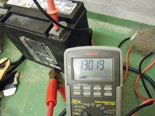 ハーレーのバッテリー電圧