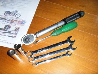 ハーレーのマフラー交換工具