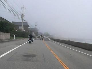 ハーレーダビッドソンと霧