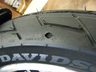 ハーレーのタイヤパターン