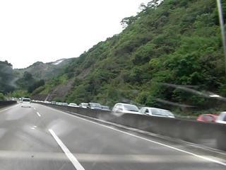 ハーレーと峠の渋滞