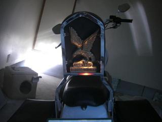 ハーレーのシーシーバー照明