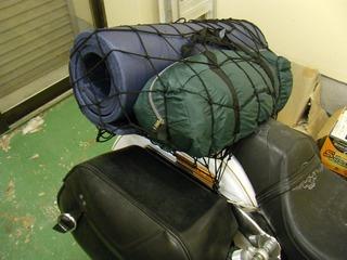 ハーレーのキャンプ道具