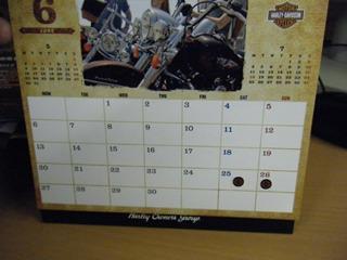 ハーレーのカレンダー