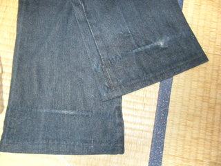 ハーレーダビッドソンに乗るときのジーンズのお裾上げ