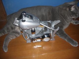 ハーレーダビッドソンのフレームとエンジン