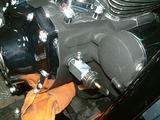 ハーレーダビッドソンの油圧計フィッティング