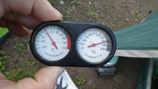 ラブアンドピースアンドライドテント場温度