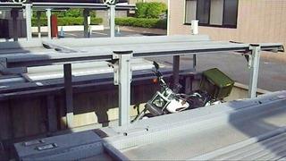 ハーレーの立体駐車場