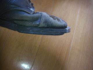 ハーレーダビッドソン用ブーツ 靴底修理側面