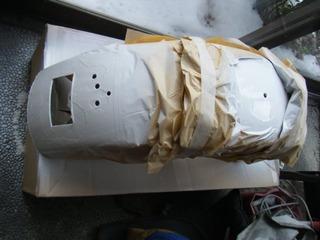 ハーレーのフェンダー塗装 ホワイト