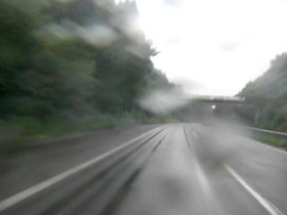 ハーレーの雨天走行