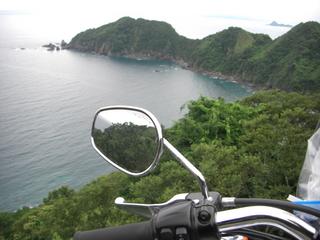 ハーレーダビッドソンと四国の岬