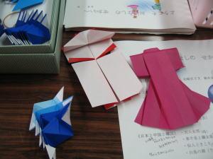着物の形の折り紙