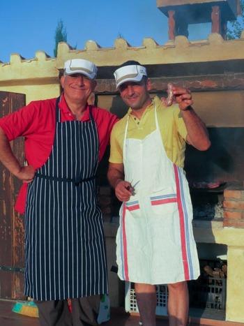 肉焼き人ミキ君のパパ&ベニートさん