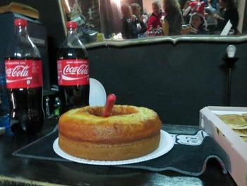 ケーキと飲み物
