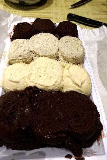 4種類のアイス