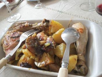 鶏とジャガイモ