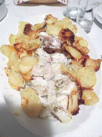 白身魚とジャガイモのオーブン焼き