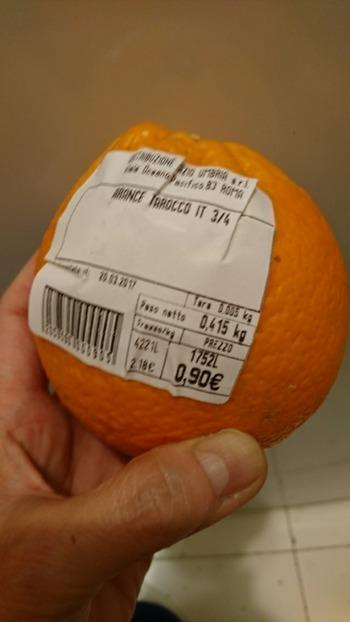 オレンジ1個