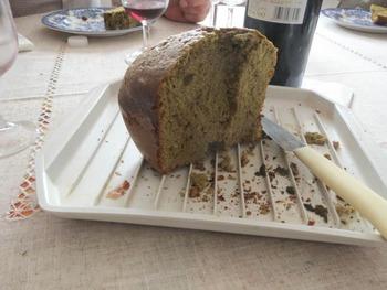 レモンママレード入り黒糖抹茶ケーキケーキ