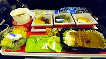 一食めの機内食