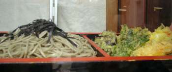 天ぷら蕎麦サンプル