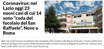 ラツィオ州新規患者23人ローマ9人