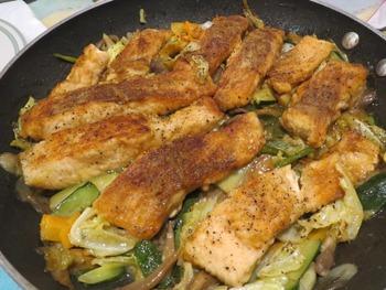 お魚と野菜