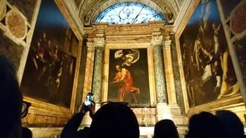 カラヴァッジォの壁画